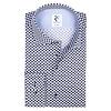 White dot print cotton shirt.