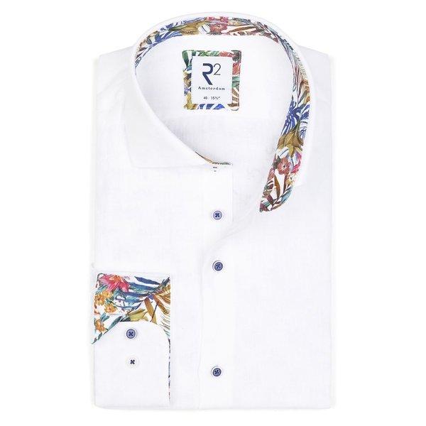 White linen shirt.