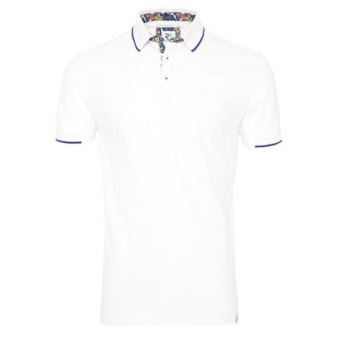 Witte polo.