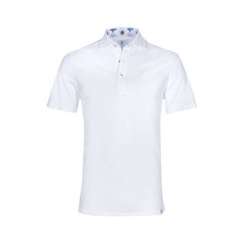 Weißes piquet Baumwoll Shirtpolo.
