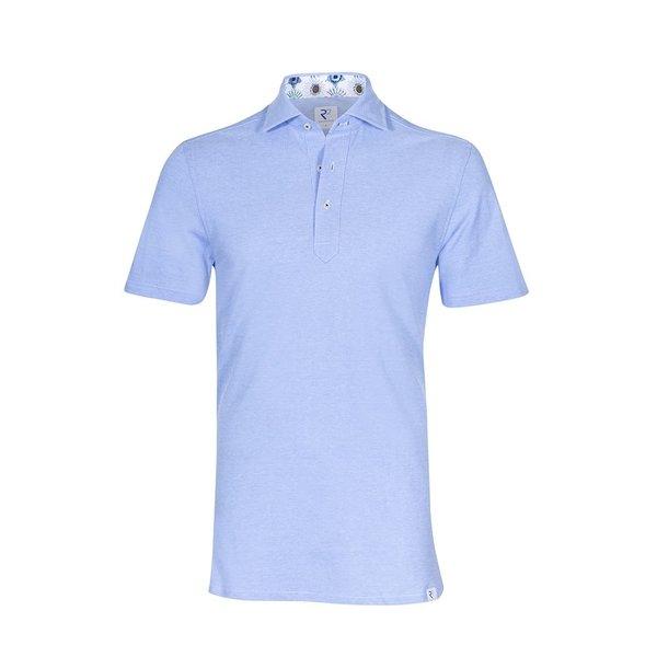 R2 Light blue piquet cotton shirtpolo.