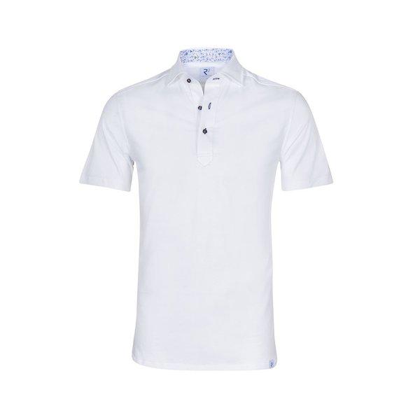 Weißes single jersey Baumwoll shirtpolo.