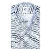 White dotsprint cotton shirt.