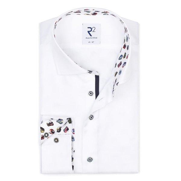 R2 Weißes Baumwollhemd.