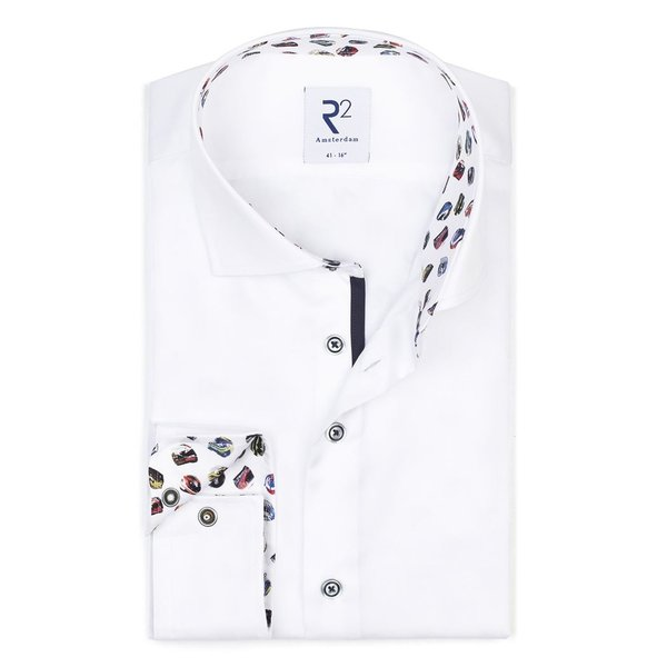 R2 White cotton shirt.