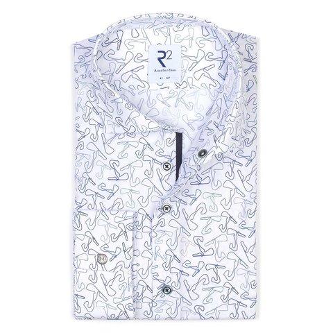 White cotton shirt with race track Zandvoort.