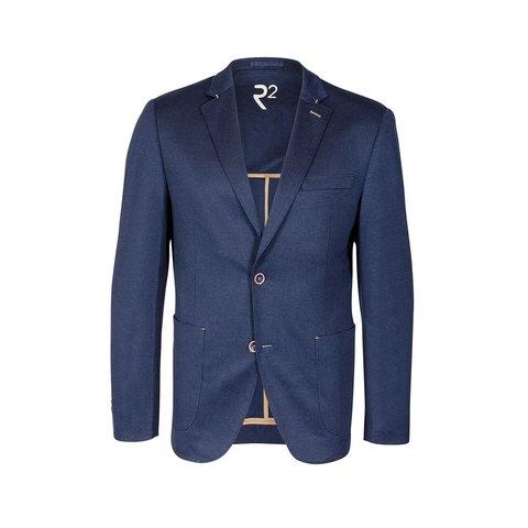 Navy Jersey jacket.