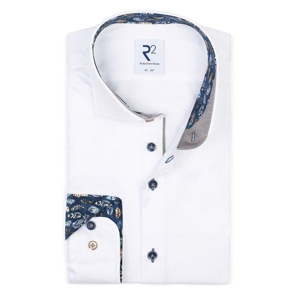 R2 Weißes 2 PLY Baumwollhemd.