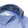 Blaues Pied de poule 2 PLY Baumwollhemd.
