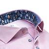 Licht roze Herringbone katoenen overhemd.