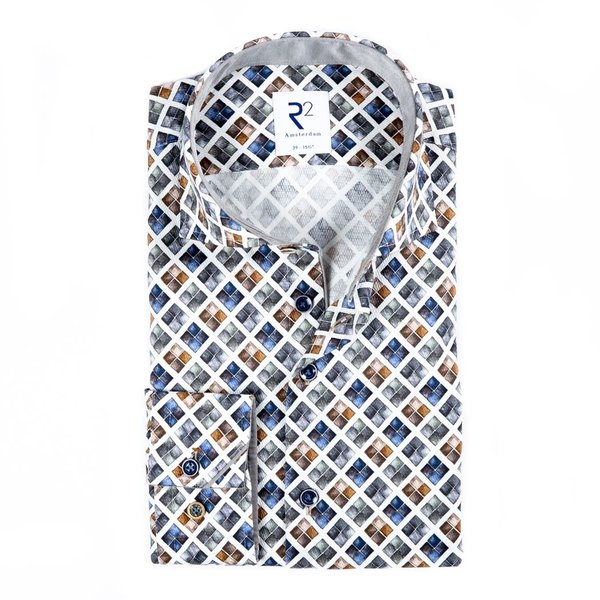 White graphical print cotton shirt.