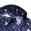 Blauw stippen print organic cotton overhemd.