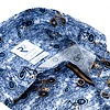 Blauw fietsenprint katoenen overhemd.