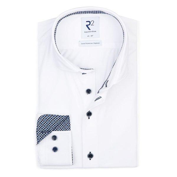 R2 Weißes 4-way stretch Hemd.