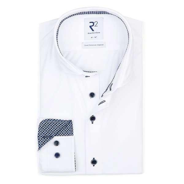 R2 White 4-way stretch shirt.