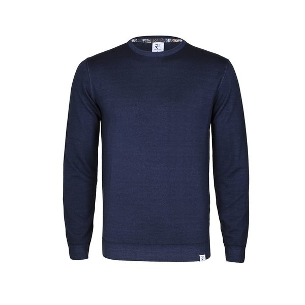 Navy blue wool sweater.