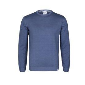 Blue wool sweater.