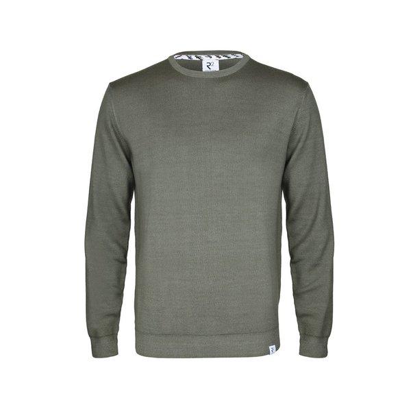 Green wool sweater.