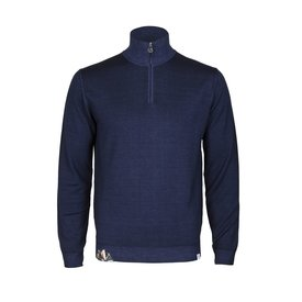 Navy blauw wollen trui.
