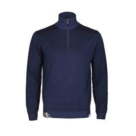 Navy blue wool sweater.