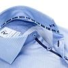 Lichtblauw mini-bloemenprint organic cotton overhemd.