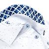 Weißen Punktdruck 2 PLY Organic Baumwollhemd.