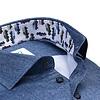 Plus size. Blauw 2 PLY organic cotton overhemd.