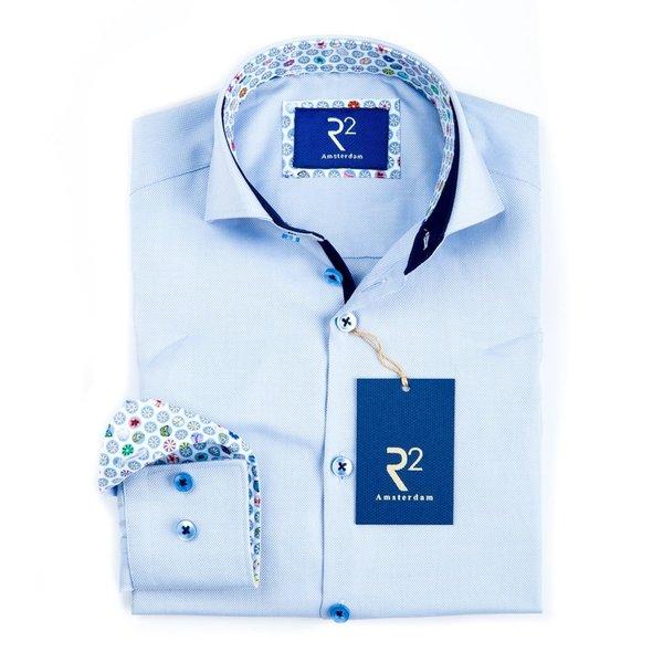 R2 Kinder Hellblaues Oxford-Baumwollhemd.
