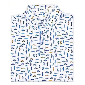 Kids witte autoprint polo.