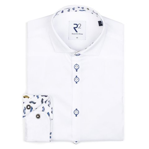 Kids white cotton shirt.