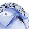 Blauw 2 PLY katoenen overhemd.