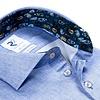 Extra Long Sleeves. Light blue 2 PLY organic cotton shirt.