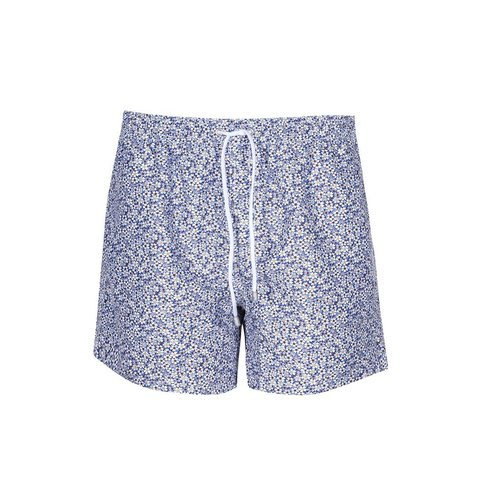 Swim short with floral print