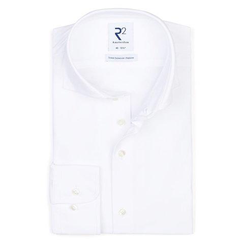 White 4-way stretch shirt.