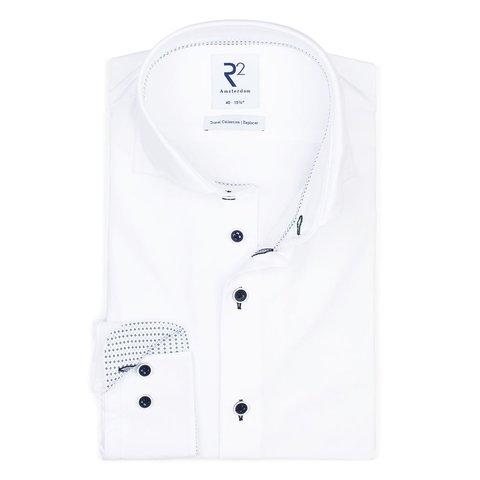 Wit 4-way stretch strijkvrij overhemd.