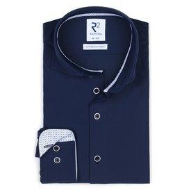 Navy 4-way stretch shirt.