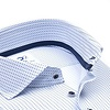 Wit grafische print 4-way stretch strijkvrij overhemd.