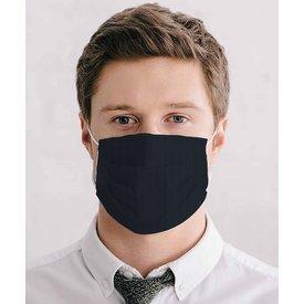 Black cotton mouth mask