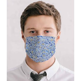 White bicycle print mouth mask