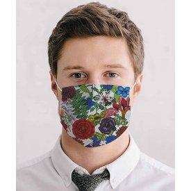 White floral print mouth mask