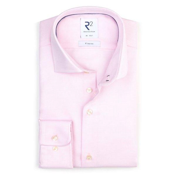 R2 Light pink non-iron cotton shirt.