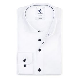 R2 Iron-free white cotton shirt.