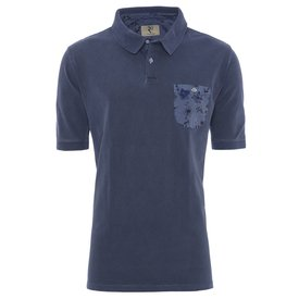 R2 Donkerblauwe washed polo.