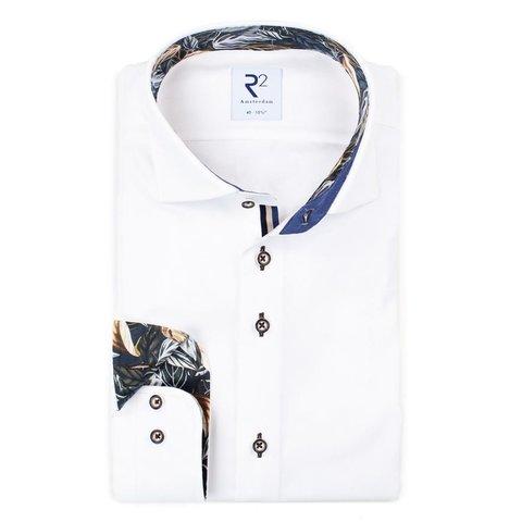 White 2 PLY cotton shirt.