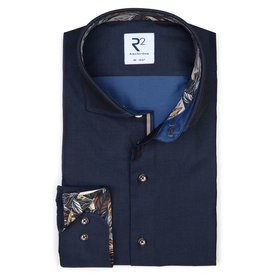 R2 Navy blue 2 PLY cotton shirt.