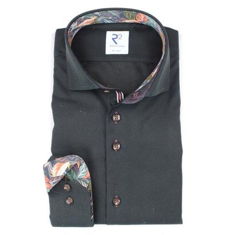 Zwart 2 PLY katoenen overhemd.