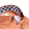 Orangefarbenes 2 PLY Baumwollhemd. Organic Baumwolle.