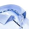 Lichtblauw 2 PLY Herringbone katoenen overhemd.