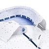 White dots print organic cotton shirt.