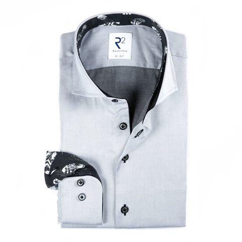 Grijs 2 PLY katoenen overhemd.